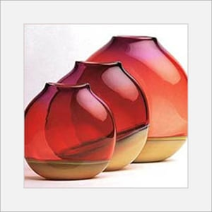 Double Shaded Glass Pots