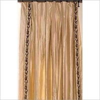 Hand Embroidered Silk Curtain Panel