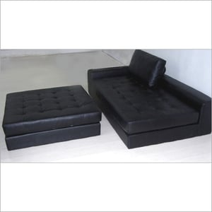 Solid Wooden Frame Leather Sofa