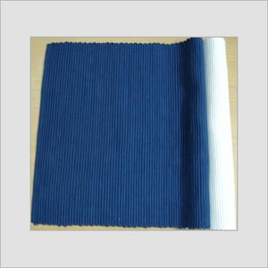 Navy Blue Solid Ribbed Table Mat
