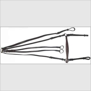 Leather Breastplate Martingale With Nose Band