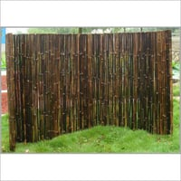 Natural Black Bamboo Fence