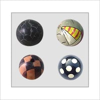 Hand-Painted Wooden Beads