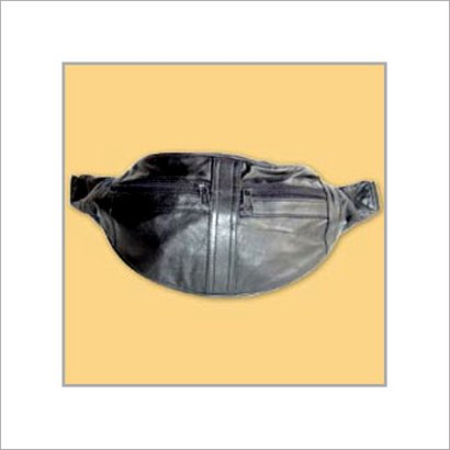 Black Easy To Carry Leather Money Bag