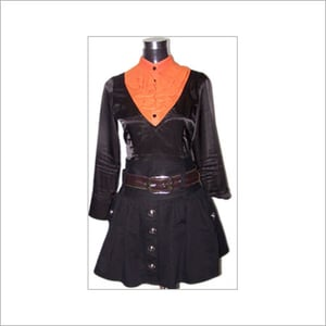 Black Color Lady's Overcoat