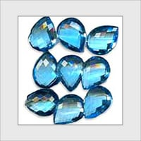 Clean And Bright Reflections Topaz Briolettes Beads