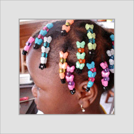 Colorful Metal Hair Beads Used By: Baby Girls