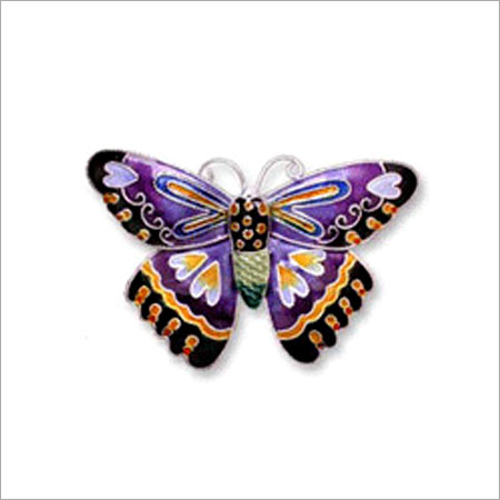 Hand Painted Butterfly Colorful Pins Used By: Women