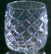 Round Shaped Crystal Glass
