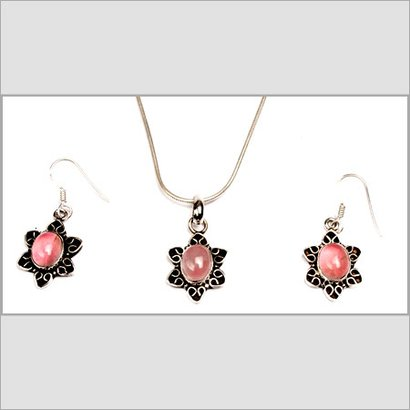 Beautiful Pink Color Pendant With Chain