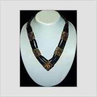 Brown Color Beaded Bone Necklace