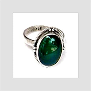 Cabstone Finger Green Color Rings