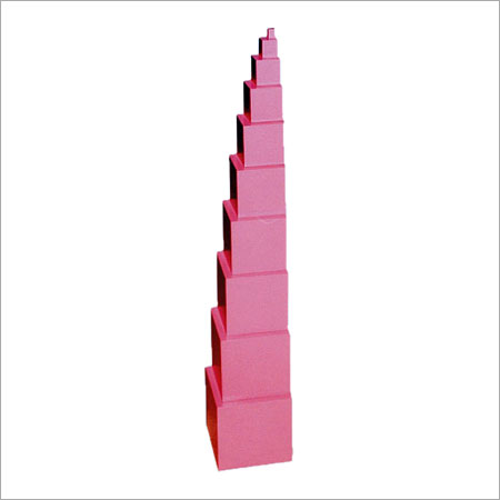 Wooden Cubes Pink Tower