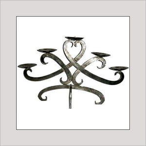 Handcrafted Wrought Iron Wall Sconce