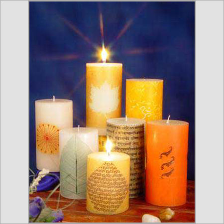 Round Shape Paper Candles