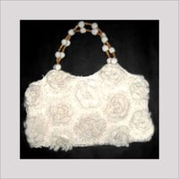 White Colored Crochet Bags