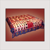 Applique Printed Bed Cover
