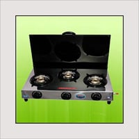 Three Burner Gas Stove With Cover