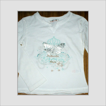 Cotton Printed T-Shirt For Ladies