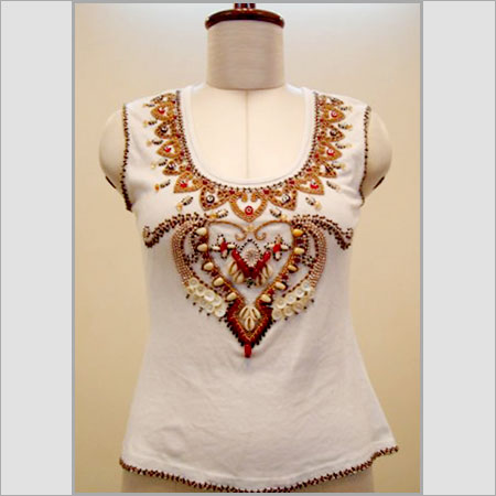 Hand Embroidered T-Shirt