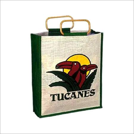 Green Printed Jute Promotional Bags