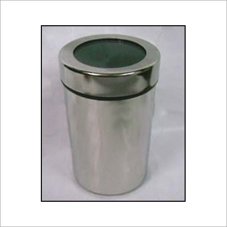 Stainless Steel Canister With Screw Lids Size: 7 CM, 8 CM, 10 CM, 12 CM