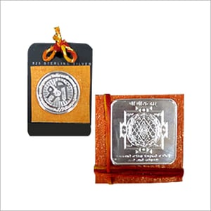 Pure Silver Religious Coins And Yantras