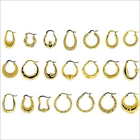 Gold Plated Brass Mini Earrings