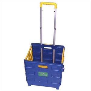 Metal And Plastic Folding Shopping Cart