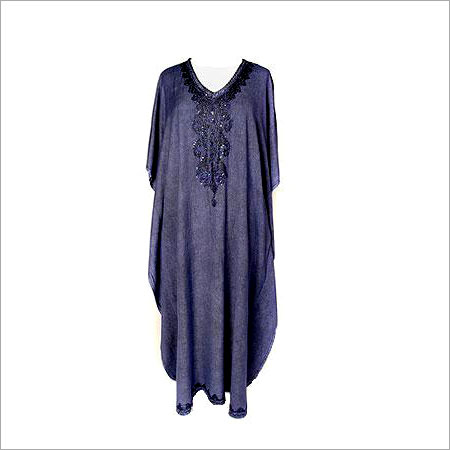 Purple Fancy Pure Cotton Kaftan