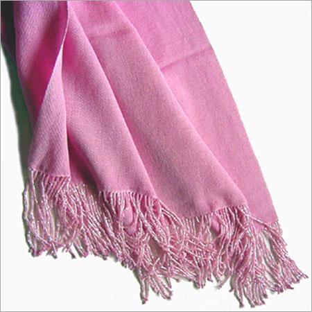 Plain Pink Color Silk Shawls Material: Cotton