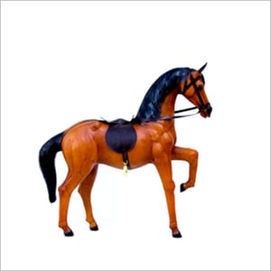 Brown Leather Stuffed Horse