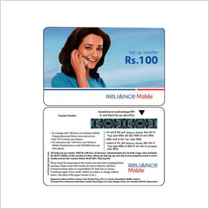 Scratch Prepaid Recharge Cards