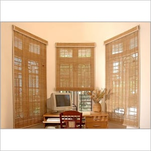 Vertical Rollup Bamboo Blinds