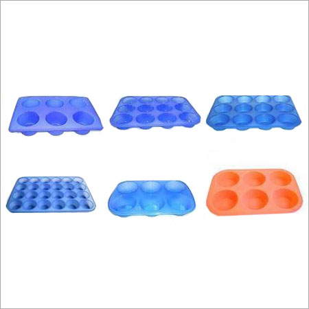 Blue And Orange Unbreakable Colored Silicone Bakeware
