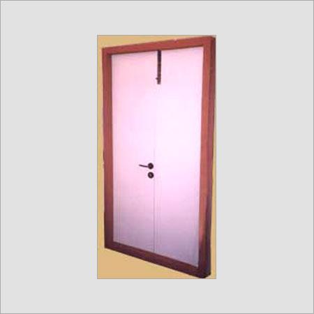 Double Shutter Steel Flush Door