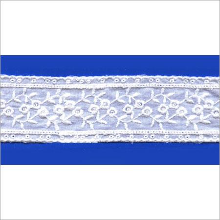 White Colored Cotton Lace