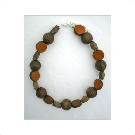 Ladies Designer Wooden Necklace