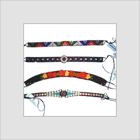 Plain Beaded Embroidered Belts Customized Size