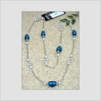 Metal Necklace with Glass Beads