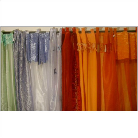 Window Colored Silk Curtains