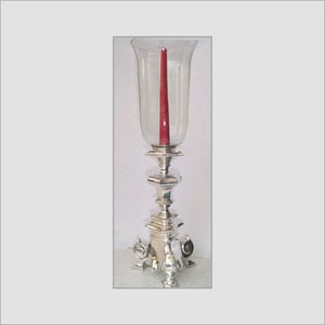 Hurricane Silver Plated Candle Holder
