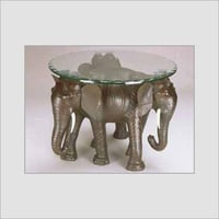 Leather Animal Glass Tables