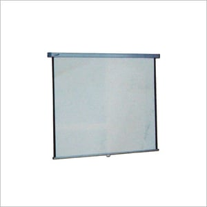 WALL MOUNTING ROLL UP SPRING ACTION SCREEN