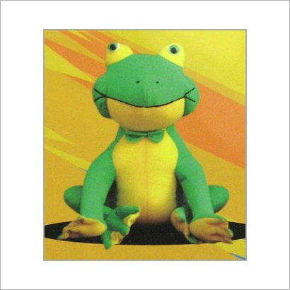 FUNNY FROG SOFT TOY