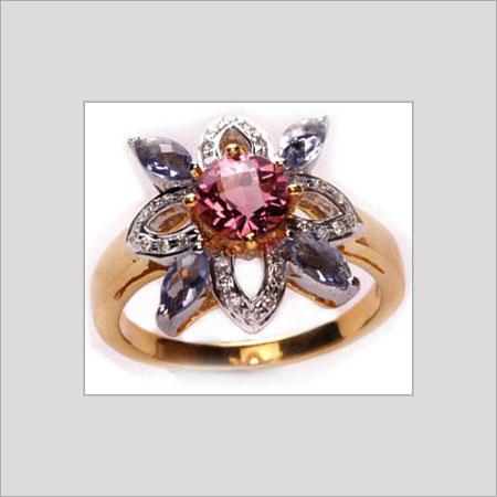 Round Gemstone Ring For Women