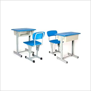 Height Adjustable Single Desk and Chair