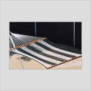 Polyester Two Colour Rope Hammock