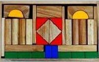Handcrafted Wooden Play Blocks In Window Box