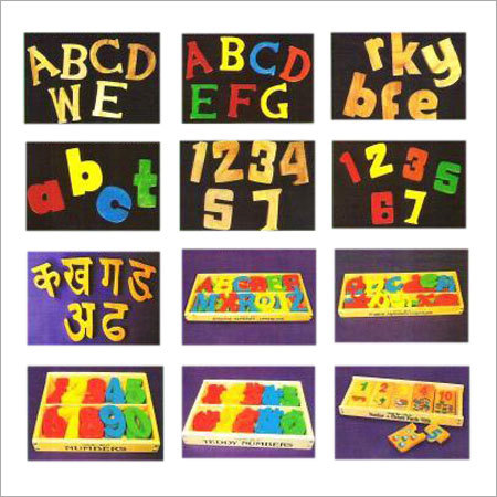 Multicolor Wooden Alphabets For Education